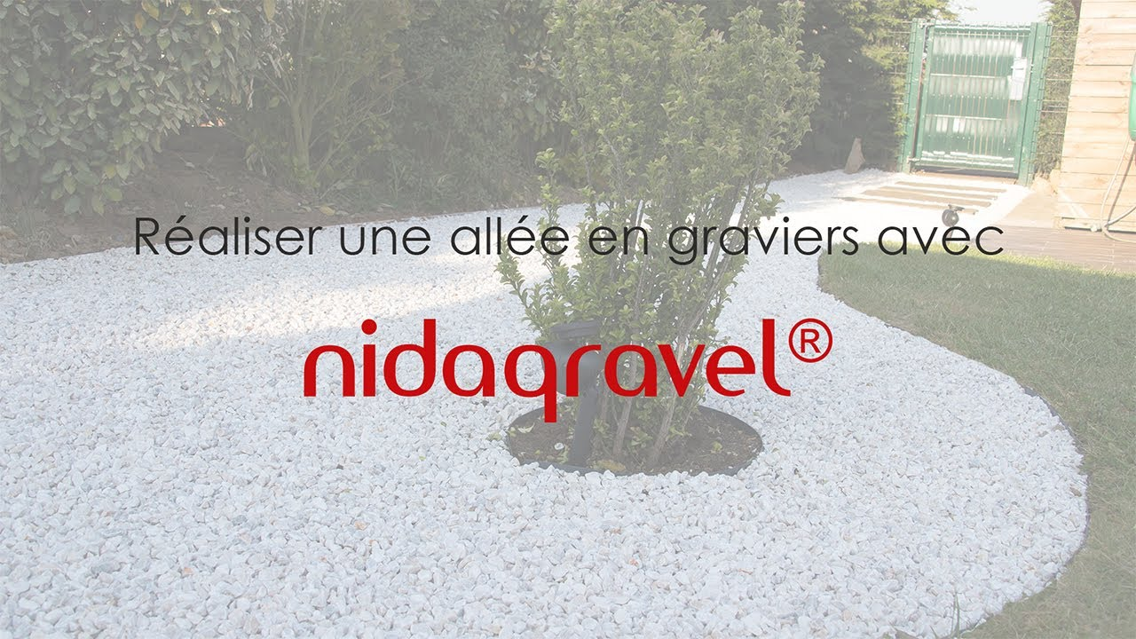 Tuto nidagravel 129 r aliser une all e en graviers youtube for Realiser une cour en gravier