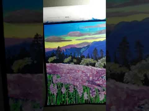 landscape painting // flower garden painting // travel and art