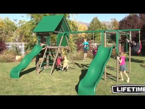 Lifetime Double Slide Deluxe Playset (Earthtone & Primary Colors ) 90240/90274 - KitSuperStore.com