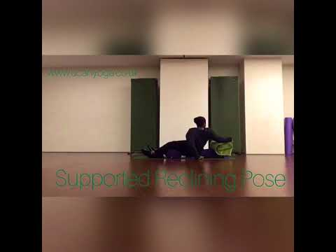 supported reclining pose  restorative yoga  youtube