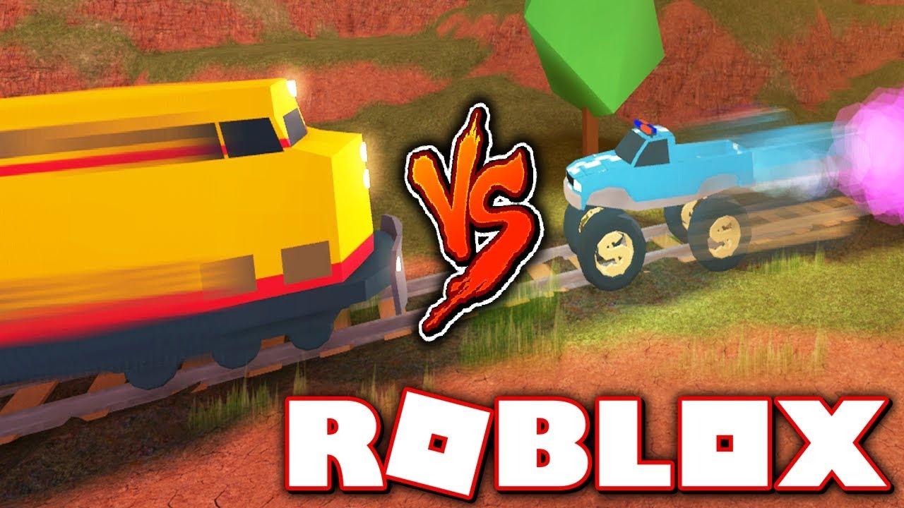 MONSTER TRUCK ROCKET FUEL VS TRAIN!! (Roblox Jailbreak NEW Update)