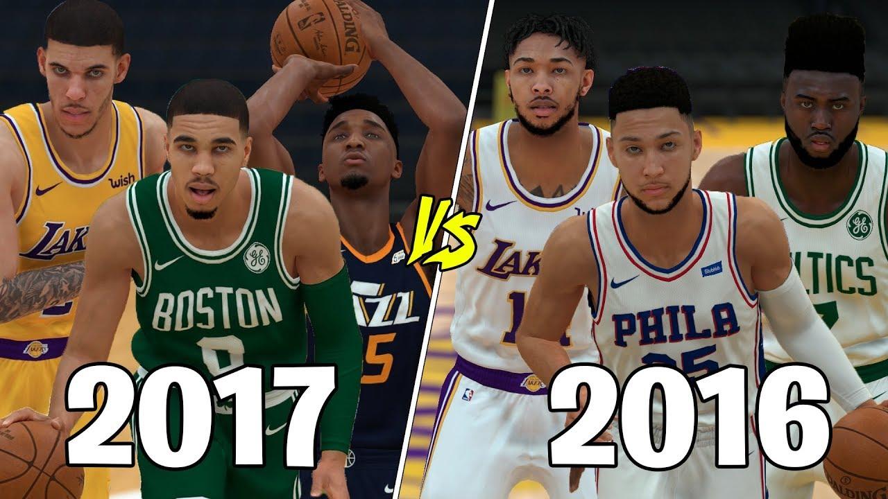 2017 NBA Draft Class vs 2016 NBA Draft Class! | NBA 2K19