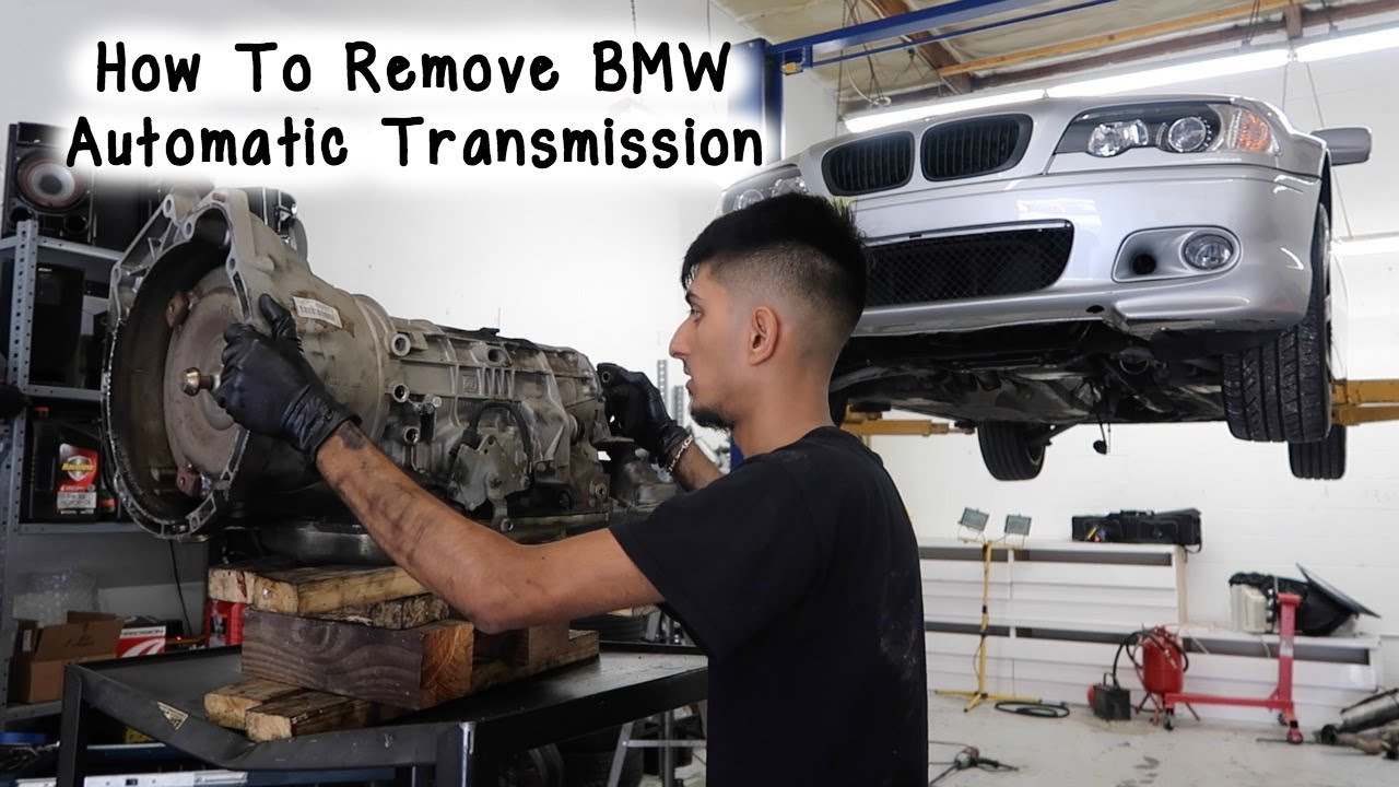 How To Remove Bmw E46 Automatic Transmission Youtube border=