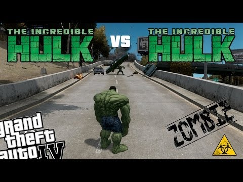 GTA IV Hulk Mod + Zombie Mod - Incredible Hulk vs Incredible Hulk vs Zombie Apocalypse