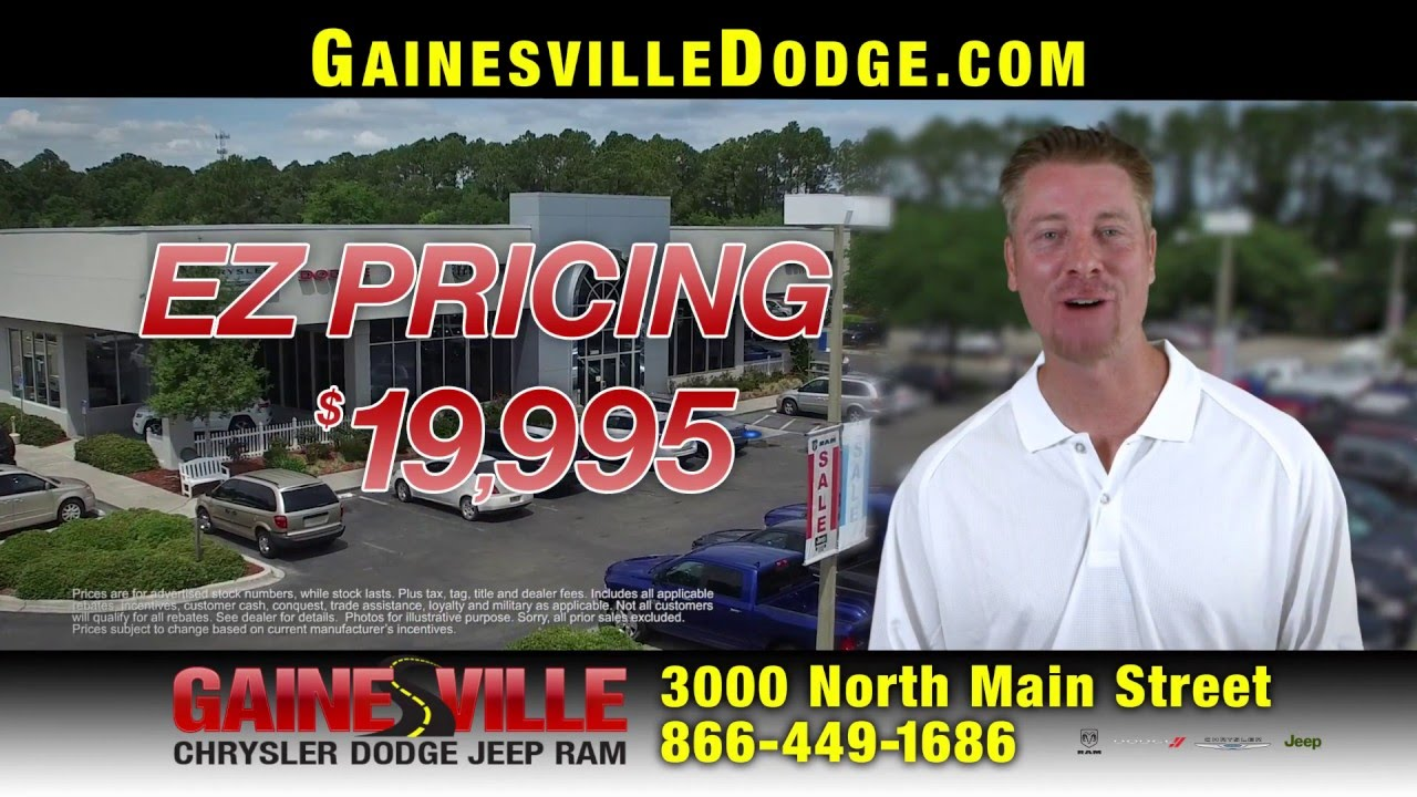 Easy Pricing at Gainesville Chrysler Dodge Jeep Ram! - YouTube