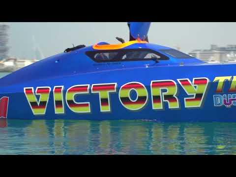 100% Vittorio Brumotti - Drive Victory Team boat in Dubai