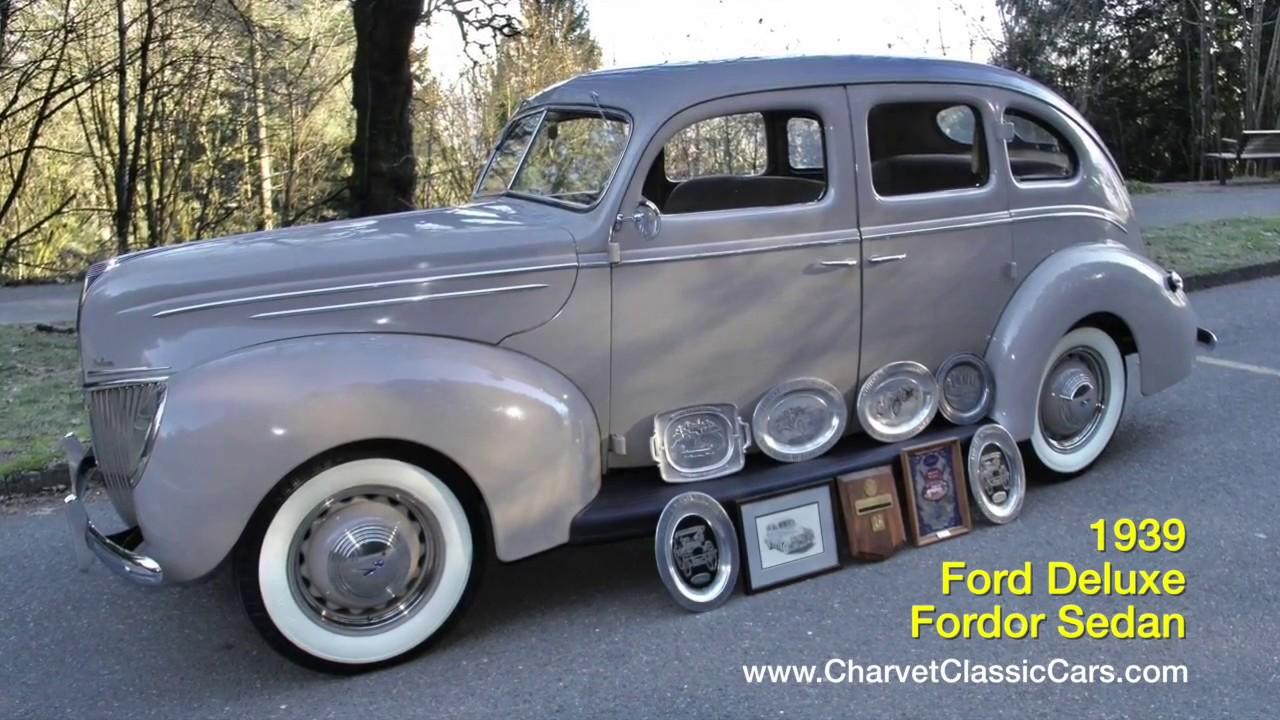 UNRESTORED 1939 Ford V8 Deluxe Fordor Sedan. Charvet Classic Cars ...