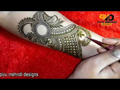 Easy Bridal Design Henna | 2018 Mehndi Design For Hands | Eid  Special mehndi designs