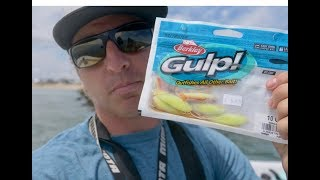 HOW TO CATCH FLOUNDER ON THE NEW BERKLEY GULP! SWIMMING MULLET - FULL TUTORIAL