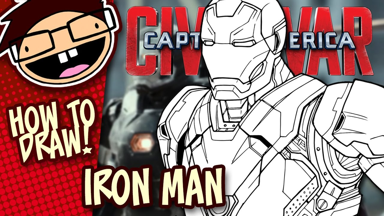 how to draw iron man mark 46 captain america civil war narrated easy step by step tutorial