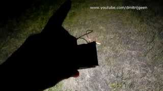 Ночной тест мощного сверхяркого 10Вт светодиода