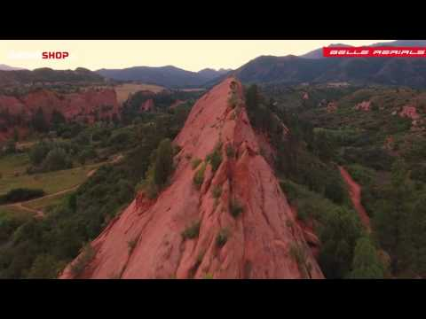 Colorado Springs, Red Rock Canyon Open Space by drone