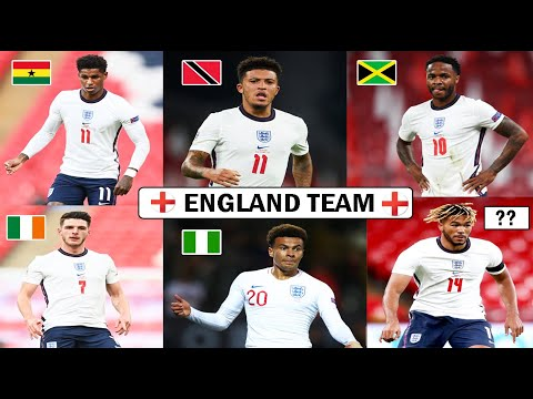 Get To Know The Origin Of England Team Football Players 2020 Ft  Sancho,Sterling,Rashford ,Dele Alli