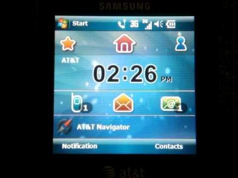 Samsung Epix SGH-i907 Software Tour