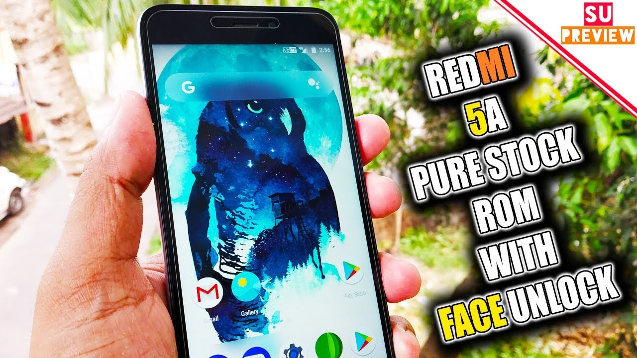 REDMI 5A PURE STOCK ROM WITH FACE UNLOCK || FULL REVIEW