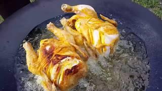 Курица на диске  Вкусный рецепт для пикника