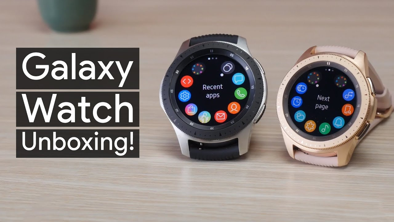 Samsung Galaxy Watch unboxing  is this the prettiest smartwatch ever made  a69a2247db4