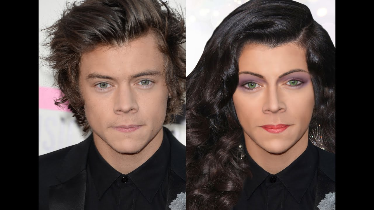 Harry styles photoshop transformation into a drag queen youtube baditri Images