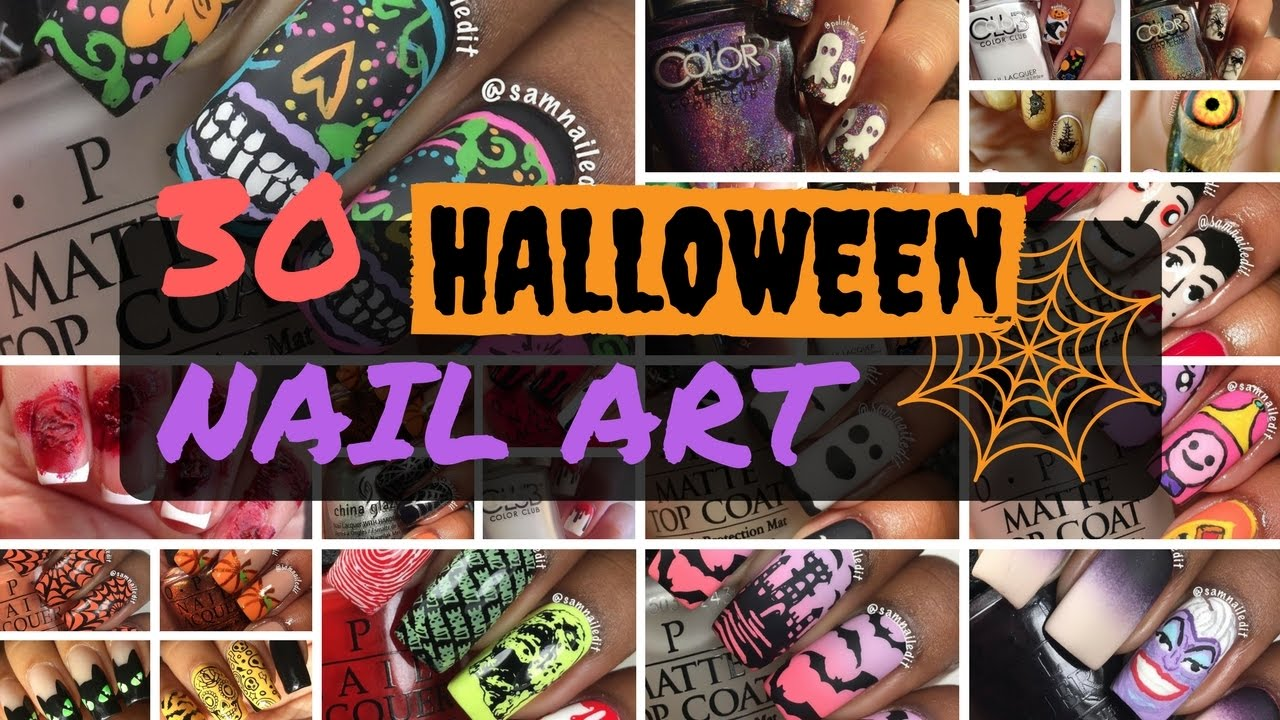 Halloween Nail Art 👻💀 Nail Art Tube Instagram Compilation ...