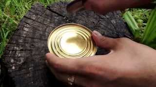 Открой консервную банку чайной ложкой