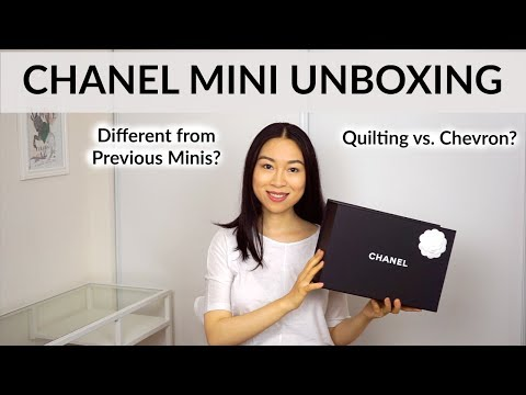2017 Chanel Mini Unboxing| 17B Rectangular Mini Flap Bag Review| Quilting vs. Chevron?