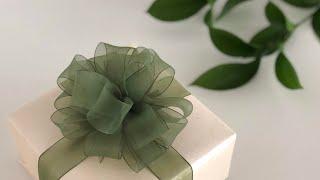 조금 더 특별하게 선물포장 리본 묶는법-폼폰보우 gift ribbon pompon bow