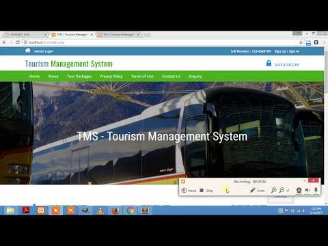 Tourism Management System (Free Download)