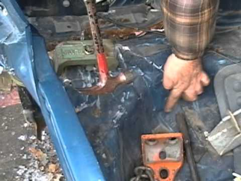 Backhoe autobody repair hillbilly Frame straighten a chassis - YouTube