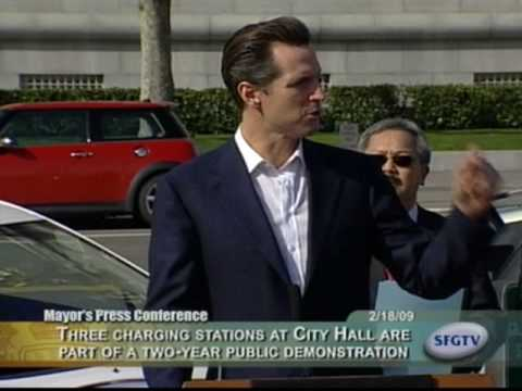 Mayor Newsom Unveils Electric Vehicle (EV) Charging Stations for San Francisco