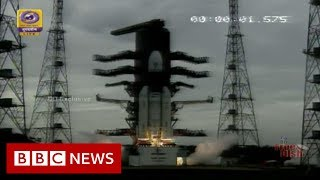 The moment India's Moon mission began its journey - BBC News
