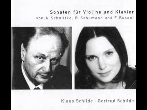 Klaus Schilde, Gertrud Schilde: Alfred Schnittke - Sonate Nr. 3