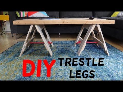 Simple Industrial Trestle Leg Table Build!