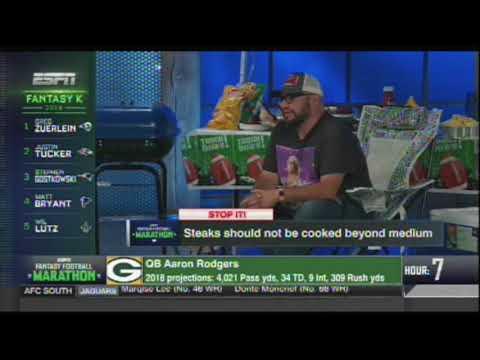 DJ Rob Swift on ESPN's Fantasy Draft Marathon 2018