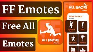 ff emotes app | Dance & Emotes Battel Royal | Free All Emotes Ff App | FF Emotes Viwer App screenshot 1
