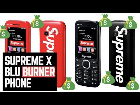 SUPREME X BLU BURNER PHONE OVERVIEW AND REVIEW