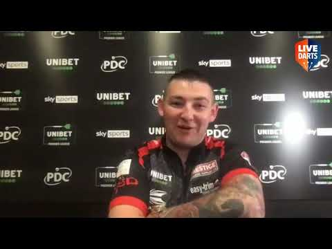 """Nathan Aspinall on draw with MVG: """"We were told to tone it down but darts is all about adrenaline"""""""