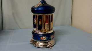 Sima Italian Hand decorated Toleware cigarette carousel Music Box