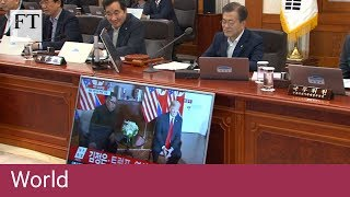 South Korean president watches Trump-Kim summit on TV