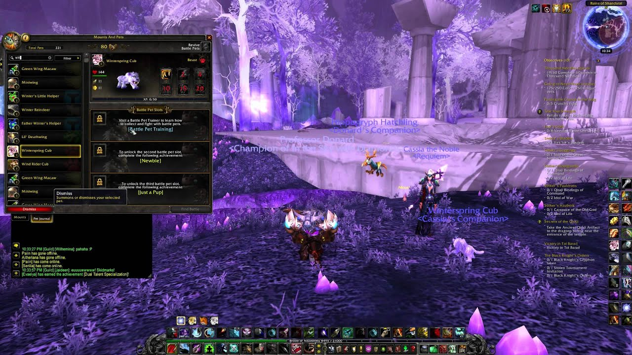 World of Warcraft Pet Battles Top 10 Cutest Pets Chosen By Darkangel