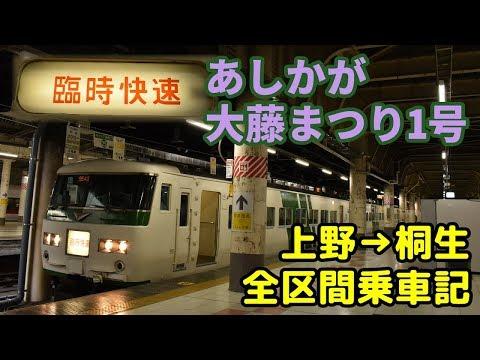 【上野→桐生全区間乗車記】185系のあしかが大藤まつり1号に乗車