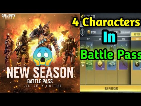 4 Characters In Season 8 Battle Pass Cod Mobile Call Of Duty Mobile Season 8 Battle Pass Youtube