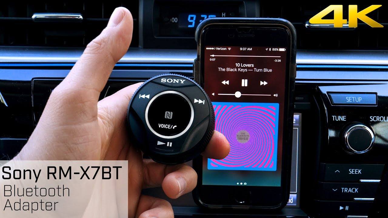 sony rm x7bt bluetooth adapter add bluetooth to your car youtube. Black Bedroom Furniture Sets. Home Design Ideas