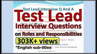 TEST LEAD Interview Questions