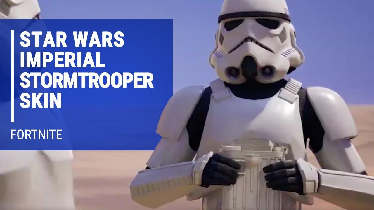 Fortnite Star Wars Imperial Stormtrooper Skin In Action