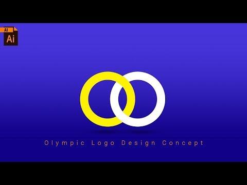 Illustrator Tutorial for Beginners | Stroke Into Shape | Olympic Logo Design thumbnail
