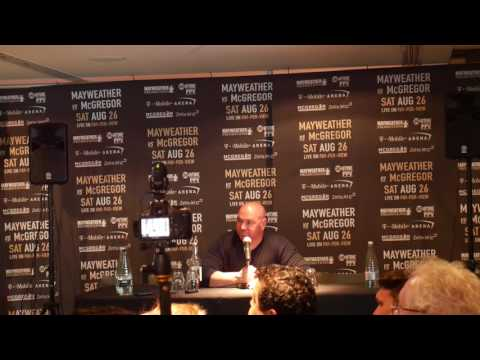 Dana White speaking to media before London Press Conference