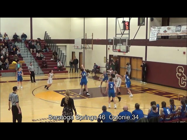 Game Highlights Girls' Varsity: Saratoga 73 vs Colonie 48 (F)