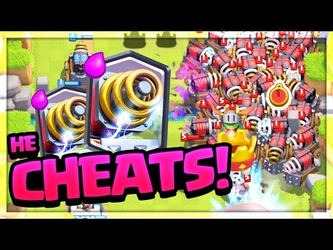 Clash Royale CHEAT - NO WAY he can do THAT!!
