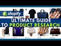 Shopify Product Research ULTIMATE Guide To Dropshipping Winning Products