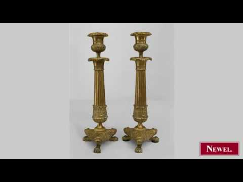 Antique Pair of French Louis XVI style (19th Cent) bronze